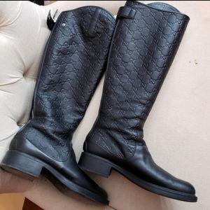 Gucci black leather boots AUTHENTIC RARE